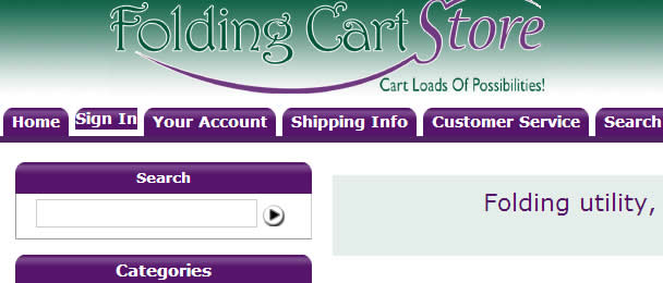 Folding Cart Store