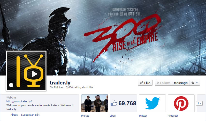 Trailer.ly' Facebook Fan Page.