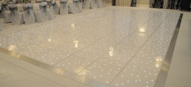 Where to hire a white LED starlit dance floor for your wedding