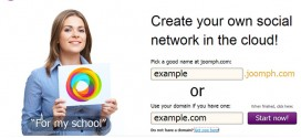 Creating a social network with Joomph